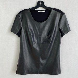 BAILEY 44 Short-sleeve Vegan Leather Tee